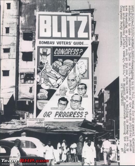 General Elections Campaingning Press Photograh  Bombay Mumbai 1967