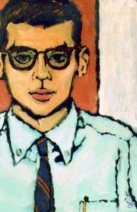 Portrait of Allen Ginsberg               by Robert LaVigne, c. mid-1950s