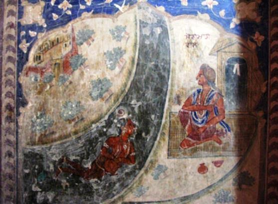 Photo 4: Fresco depicting Sohni Mahiwal