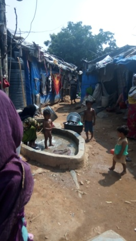 These pics I had taken while entering the camp of Rohingyas, situated in Balanagar, Hyderabad. These reveal their habitation in a slum and alienation.